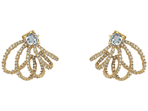 Alexis Bittar Crystal Lace Orbiting Post Earrings - 10K Gold