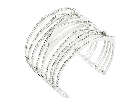 Alexis Bittar Crystal Encrusted Origami Cuff Bracelet - Rhodium