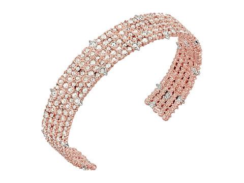 Alexis Bittar Crystal Lace Cuff Bracelet - Rose Gold w/ Rhodium