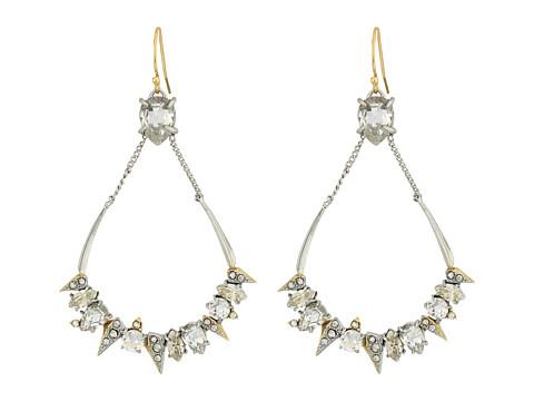 Alexis Bittar Crystal Encrusted Mosaic Futuristic Tear Earrings - Rhodium w/ 10K Gold