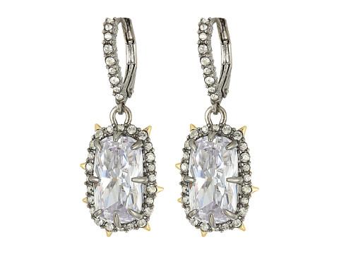 Alexis Bittar Crystal Drop Earrings - Rhodium w/ 10K Gold