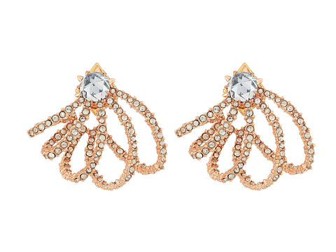 Alexis Bittar Crystal Lace Orbiting Post Earrings - Rose Gold
