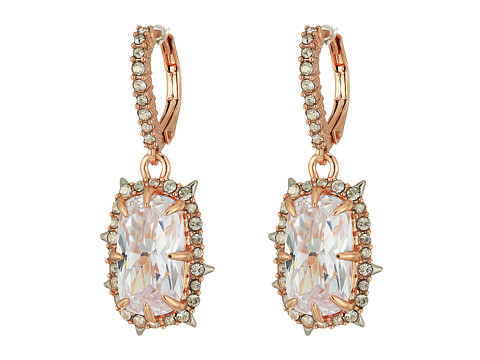 Alexis Bittar Crystal Drop Earrings - Rose Gold w/ Rhodium