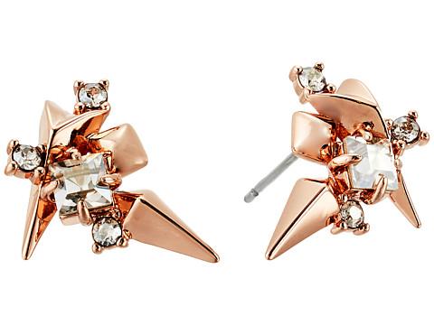 Alexis Bittar Golden Studded Post Earrings - Rose Gold