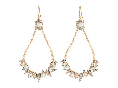 Alexis Bittar Crystal Encrusted Mosaic Futuristic Tear Earrings - Rose Gold w/ Rhodium
