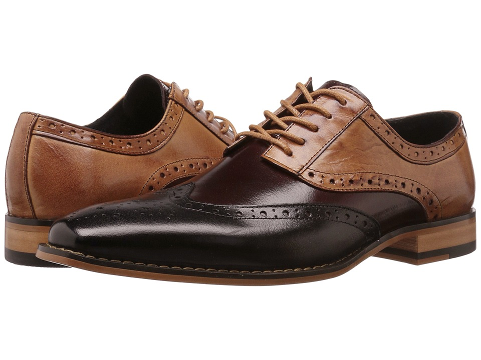Stacy Adams - Tinsley (Black/Burgundy/Tan) Mens Lace up casual Shoes