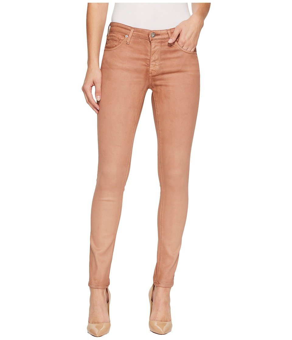 AG Adriano Goldschmied - The Legging Ankle in Vintage Leatherette LT Rose Gold