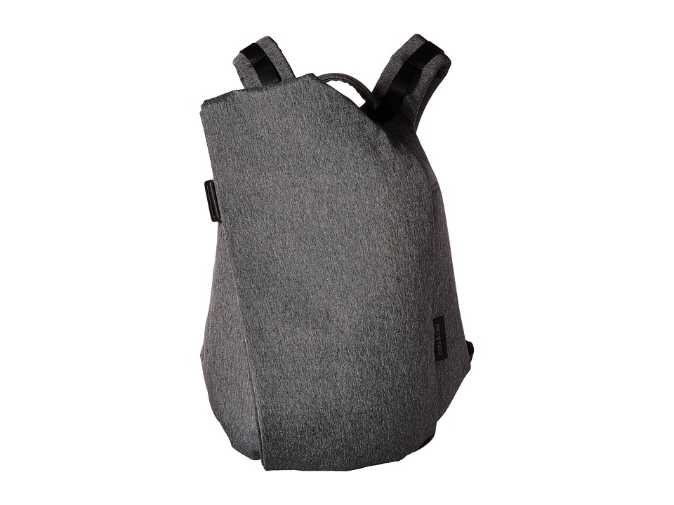 cote&ciel - Isar Medium Eco Yarn Backpack (Black Melange) Backpack Bags
