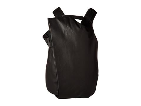 côte&ciel Isar Medium Backpack - Black/Coated Canvas