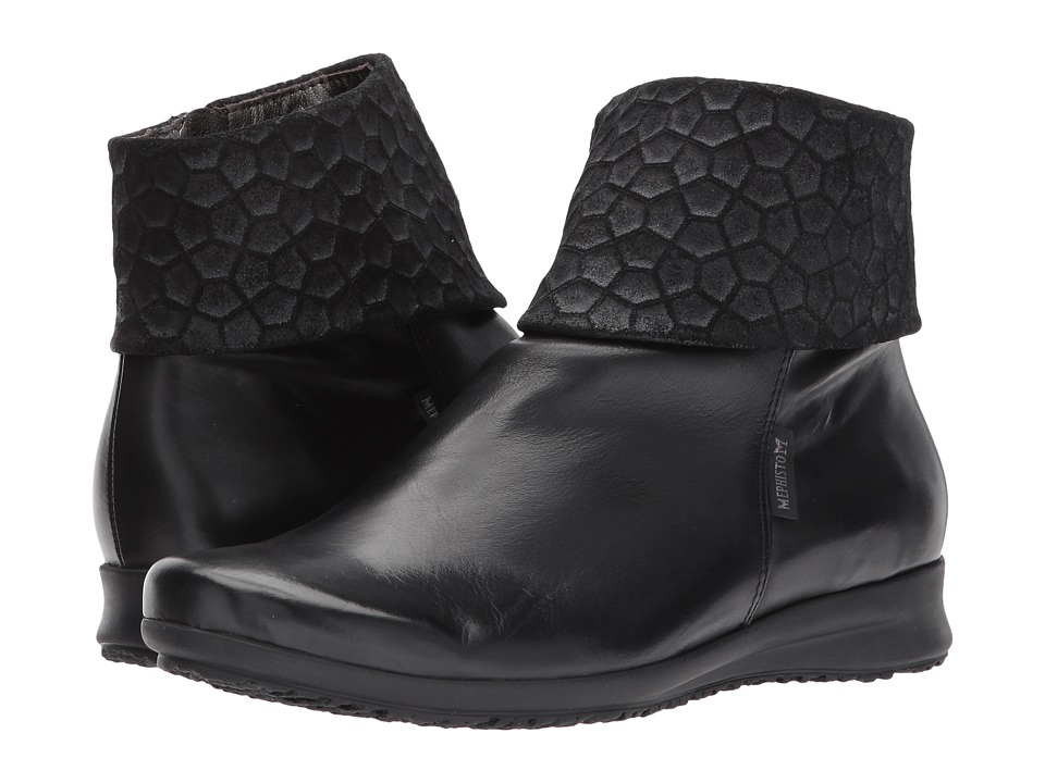 Mephisto Fiducia (Black Silk/Cubic) Women