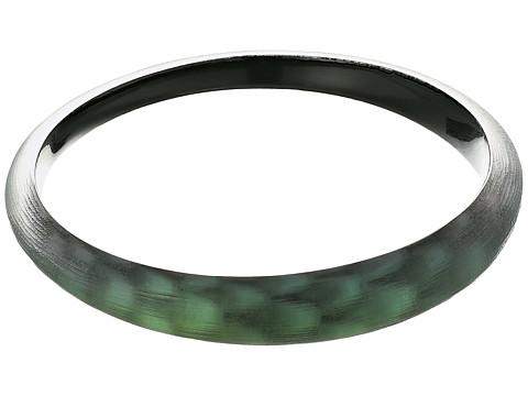 Alexis Bittar Tapered Bangle Bracelet - Green Snake Print