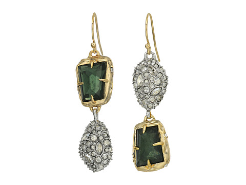 Alexis Bittar Mismatched Stone Wire Earrings - 10k Gold w/ Rhodium