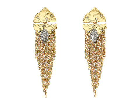 Alexis Bittar Rocky Medallion Post Earrings - 10k Gold w/ Rhodium