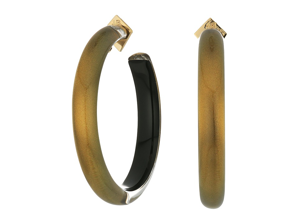 Alexis Bittar - Large Hoop Earrings (Metallic Marigold) Earring