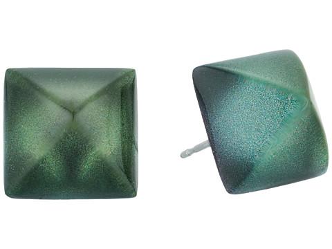 Alexis Bittar Pyramid Post Earrings - Deep Jade