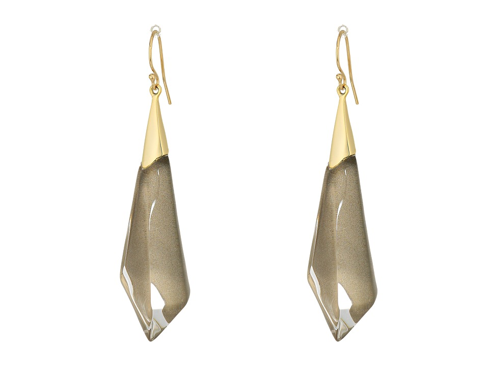 Alexis Bittar - Faceted Wire Earrings (Warm Grey Clear) Earring