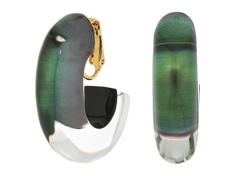 Alexis Bittar Medium Oval Hoop Clip Earrings - Deep Jade