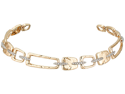 Alexis Bittar Abstract Buckle Collar Necklace - 10k Gold w/ Rhodium