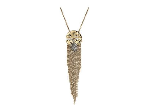 Alexis Bittar Rocky Medallion Pendant Necklace - 10k Gold w/ Rhodium
