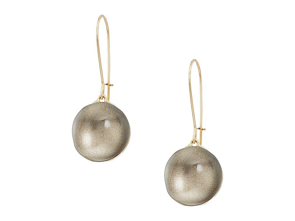 Alexis Bittar - Dangling Sphere Kidney Wire Earrings (Warm Grey Clear) Earring