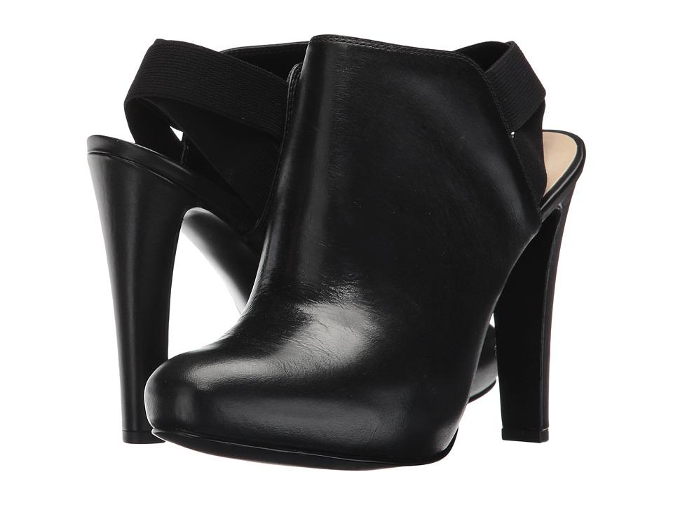 Nine West Burke (Black/Black Leather) Women