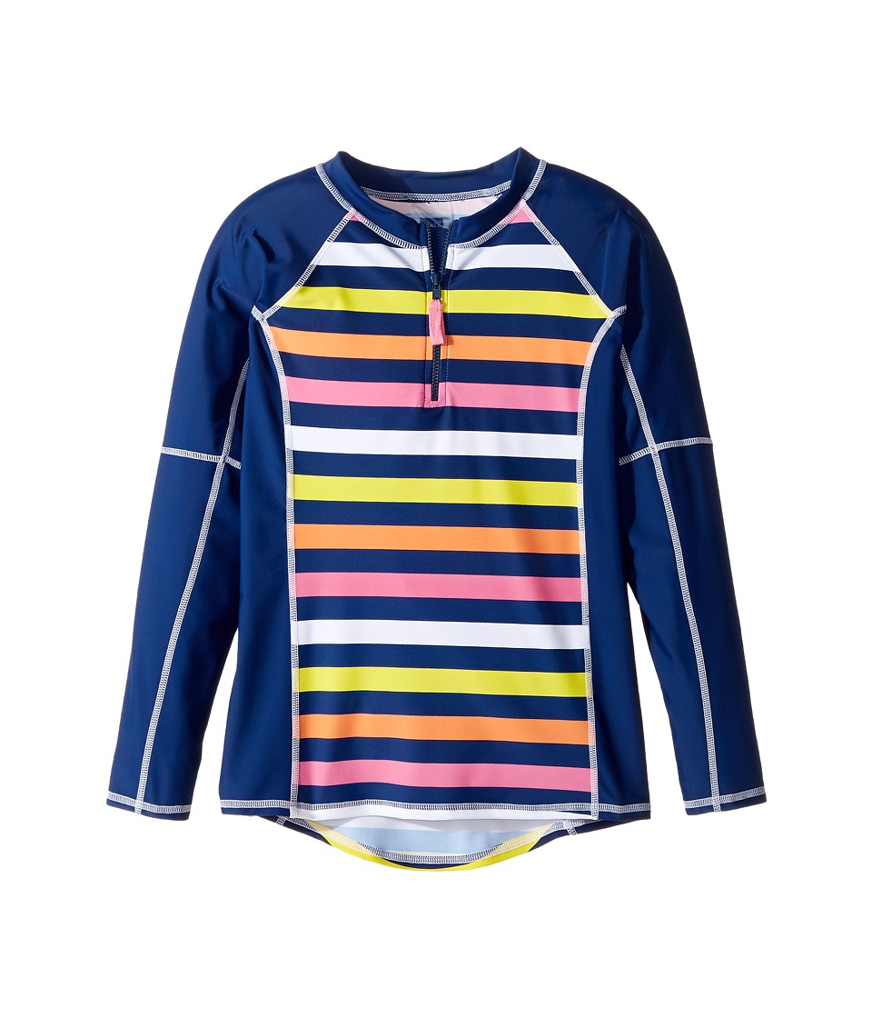 Toobydoo Santa Monica Stripe Rashguard (Infant/Toddler/Little Kids/Big Kids) (Multi Stripe) Girl