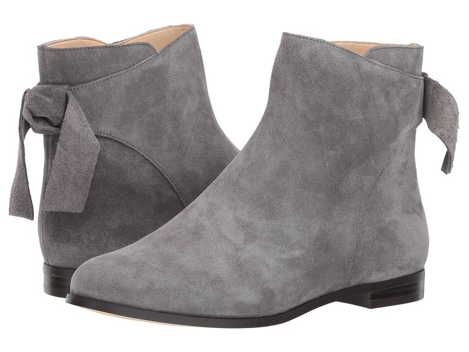 Vintage Style Boots, Retro Boots, Granny Boots, Fur Top Boots Nine West - Edelira Dark Grey Suede Womens Shoes $108.95 AT vintagedancer.com