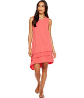 Dylan by True Grit - Luxe Cotton Slub 3 Tier Tank Dress