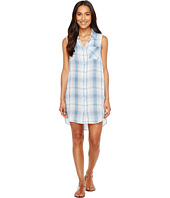 Dylan by True Grit - Baja Blue Plaid Shirtdress