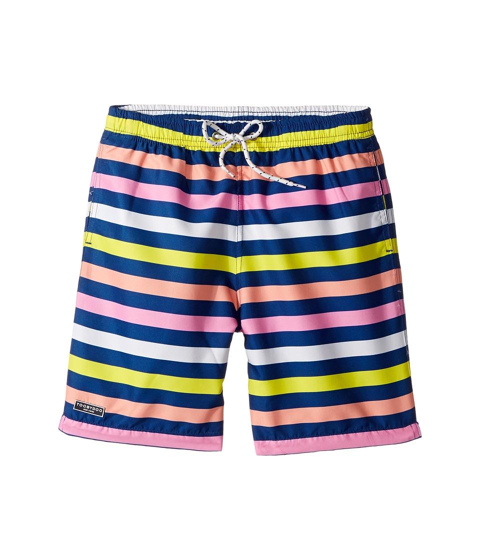 Toobydoo Lime Rock Boardshorts (Infant/Toddler/Little Kids/Big Kids) (Multi Stripe) Boy
