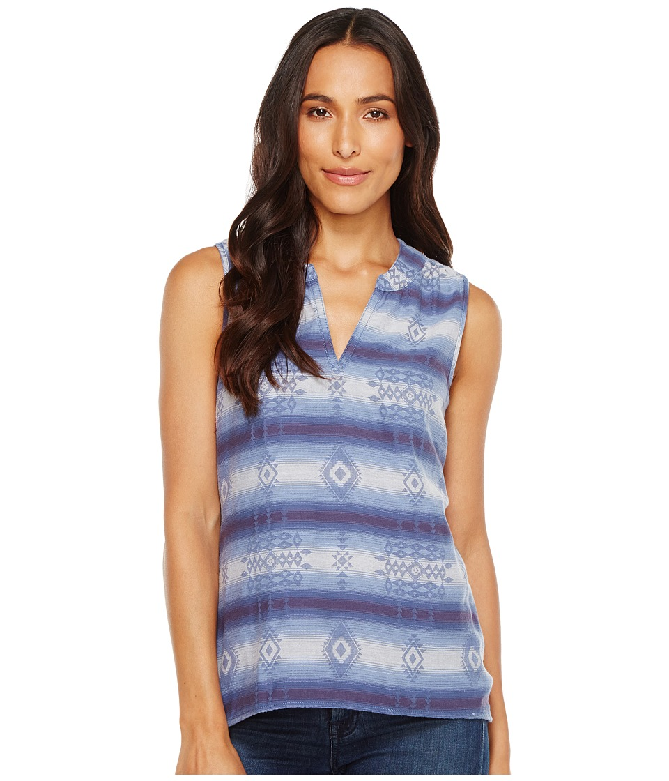 Dylan by True Grit - Jackson Double Weave Jacquard Sleeveless Tunic