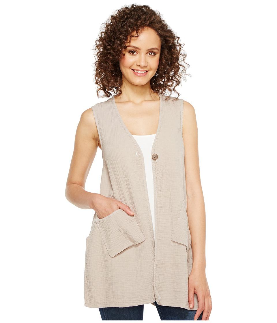 Dylan by True Grit Summer Gauze Cotton Pockets Vest (Heather) Women