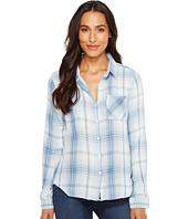 Dylan by True Grit - Baja Blue Plaid Long Sleeve Shirt