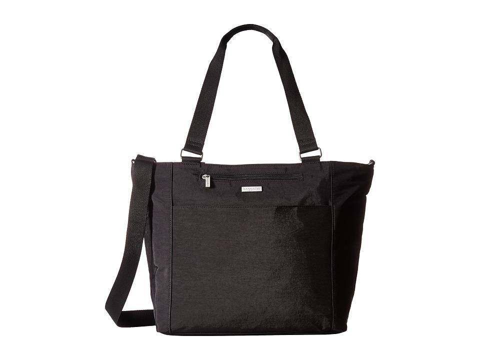 Baggallini Boulevard Laptop Tote (Black/Sand Lining) Tote Handbags
