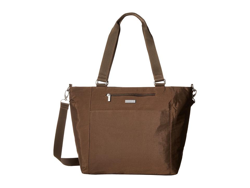 Baggallini Boulevard Laptop Tote (Mushroom) Tote Handbags