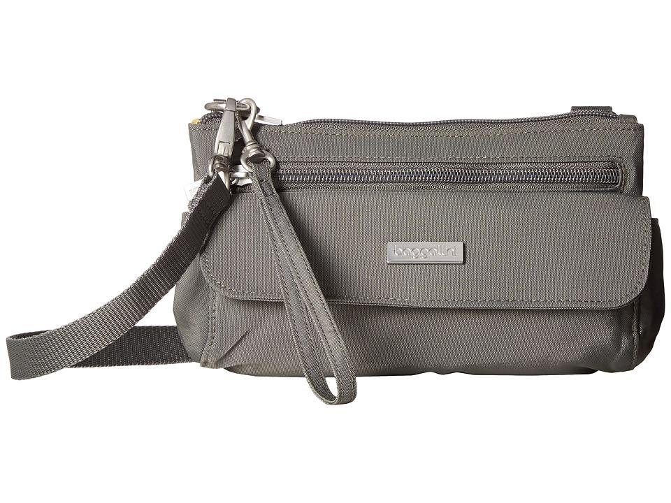 Baggallini Crossbody Mini (Pewter) Handbags