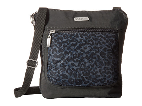 Baggallini Pocket Medium Crossbody - Charcoal Cheetah