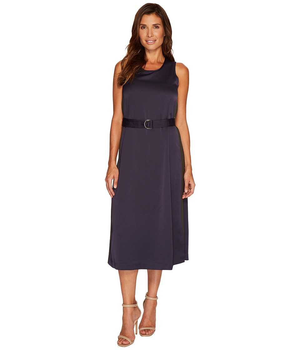 Ellen Tracy D-Ring Column Dress (Night Sky) Women