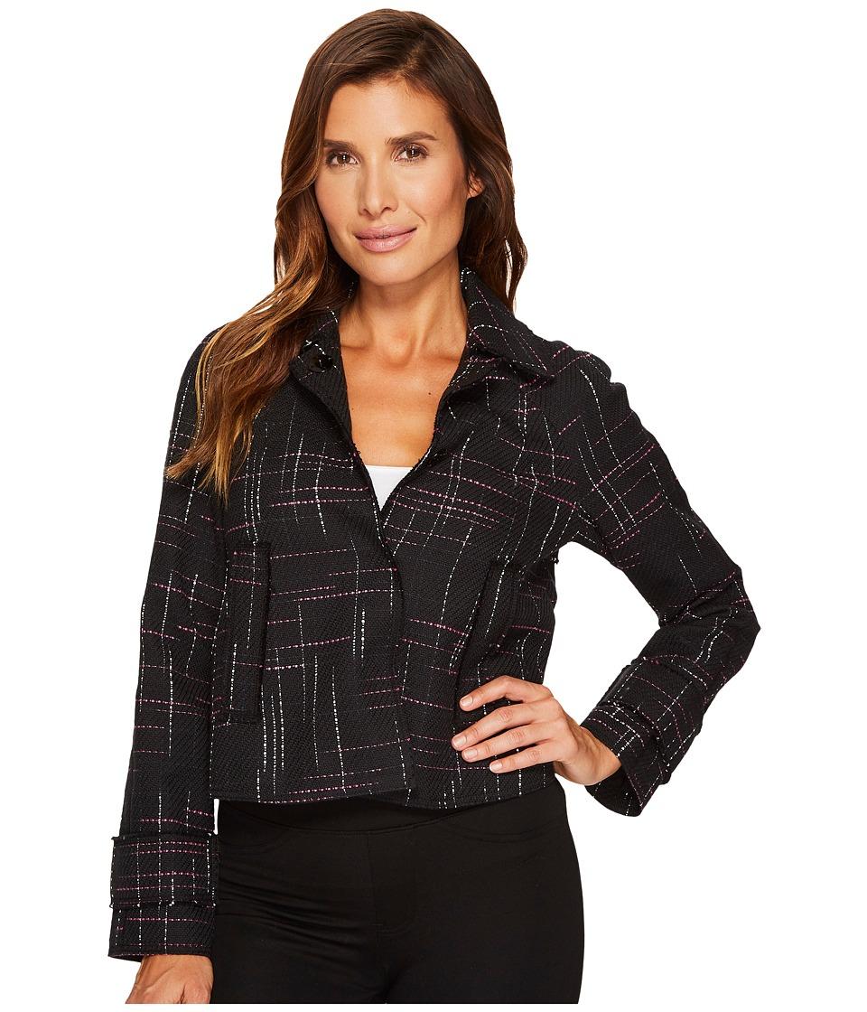 Ellen Tracy - Contrast Stitch Detail Tweed Jacket