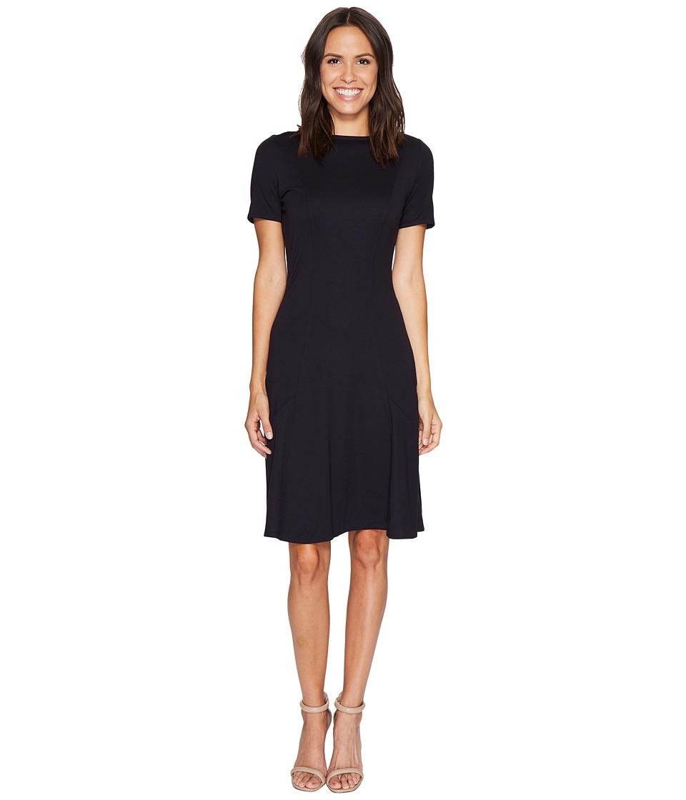 Ellen Tracy Seamed Knit Dress (Night Sky) Women
