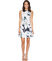 Ellen Tracy - Sleeveless Seamed Flounce Dress