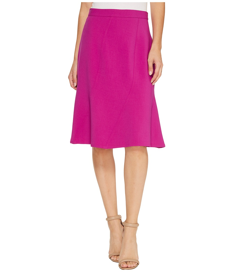 Ellen Tracy Seamed Skirt (Viola) Women