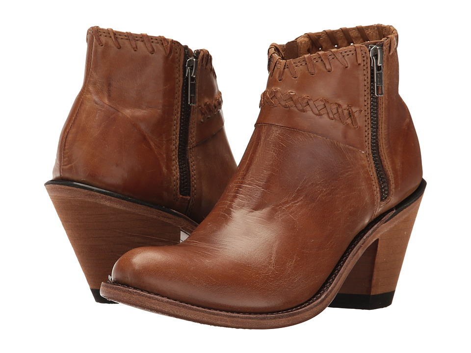 Old West Boots Crisscross Stitch Ankle Boot (Tan Canyon) Cowboy Boots