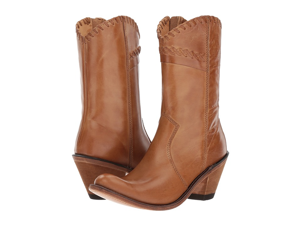 Old West Boots Crisscross Stitch Boot (Tan Canyon) Cowboy Boots