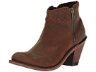 Old West Boots Old West Boots Crisscross Stitch Ankle Boot