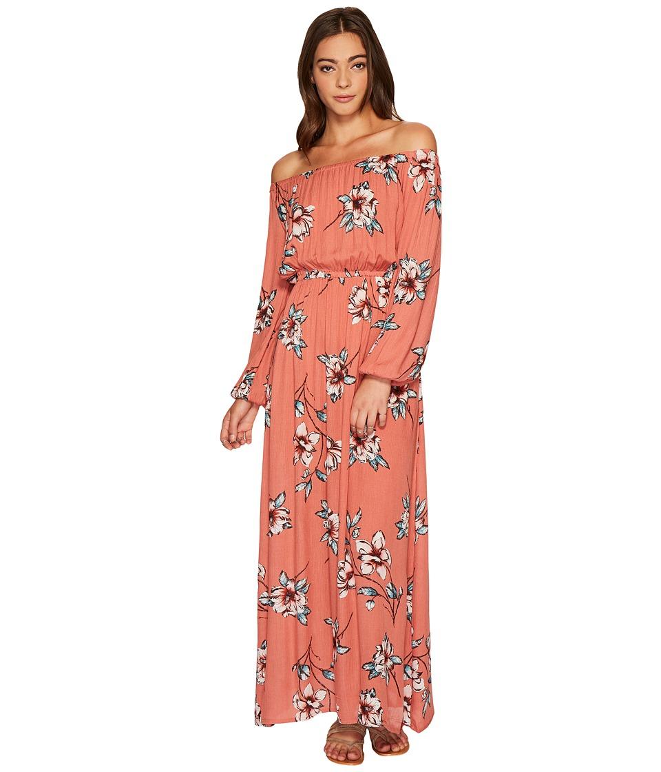 Billabong Crystal Ball Maxi Dress (Ash Rose) Women