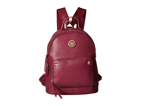 Tommy Hilfiger Emmeline Smooth PVC Backpack - Merlot