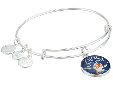 Alex and Ani Words are Powerful - You re So Hot Bangle Bracelet - Shiny Silver