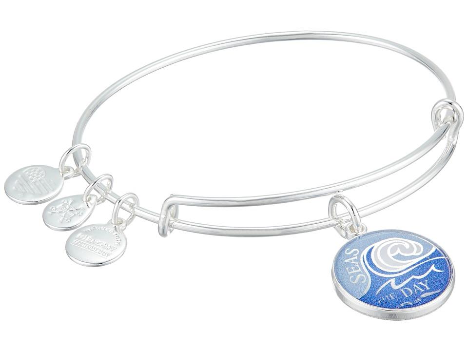 Alex and Ani - Seas the Day Bangle (Shiny Silver) Bracelet