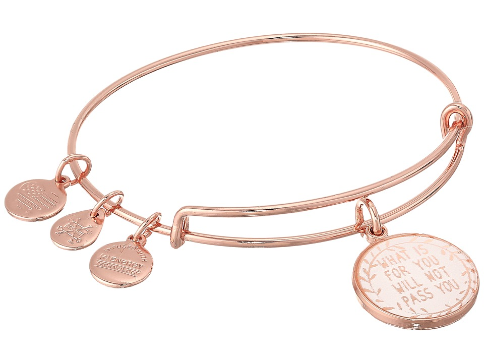 Alex and Ani - What Is for You Will Not Pass You II Bangle Bracelet (Shiny Rose Gold) Bracelet